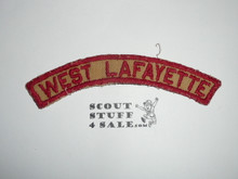 WEST LAFAYETTE Tan and Red Community Strip, used