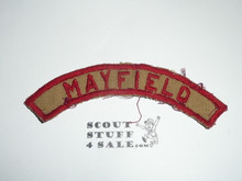 MAYFIELD Tan and Red Community Strip, used