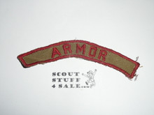 ARMOR Khaki and Red Community Strip, used