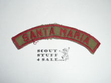 SANTA MARIA Khaki and Red Community Strip, used