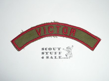 VICTOR Khaki and Red Community Strip