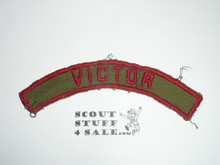 VICTOR Khaki and Red Community Strip, used