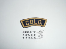 COLO. Blue and Gold State Strip, Cub Scout, sewn