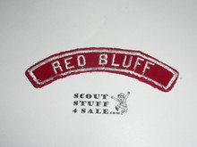 RED BLUFF Red and White Community Strip, used