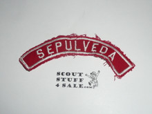 SEPULVEDA Red and White Community Strip, used