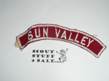 SUN VALLEY Red and White Community Strip, used
