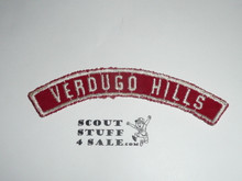 VERDUGO HILLS Red and White Community Strip and/or Council half strip, used
