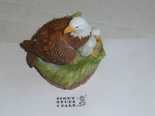 porcelin eagle musical statue, 5 tall by 4.5 wide