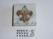 boy scout marble paper weight 2in. By 2in.