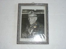 framed signed photograph of Dan Beared 5.75 wide by 7.75 high
