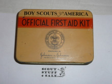 1920s boy scout first aid tin, rare variety, no contents