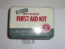 1950s boy scout first aid kit, lots of content
