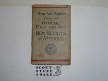 official first aid guide book, 1928
