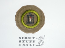 Metalwork - Type B - Wide Crimped Bdr Tan Merit Badge (1934-1935)