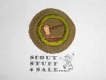 Public Speaking - Type C -  Tan Crimped Merit Badge (1936-1946)