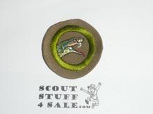 Reptile Study - Type B - Wide Crimped Bdr Tan Merit Badge (1934-1935)