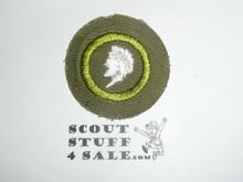 Sculpture - Type E - Khaki Crimped Merit Badge (1947-1960)