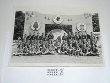 1957 National Jamboree Photograph of Contingent Troop in front of Gateway