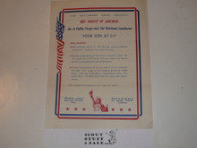 1950 National Jamboree Promotional Flyer from Balimore Area Council