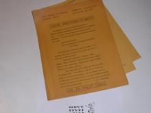 1950 National Jamboree Region 3 Jamboree Bulletin Number1