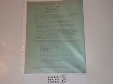 1950 National Jamboree Baltimore Area Council Contingent Details for Promotion