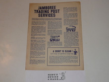 1960 National Jamboree Trading Post Services Flyer