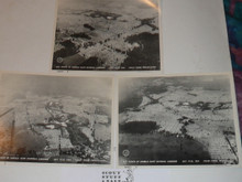 "1964 National Jamboree Set of Three Ariel 8x10"" Photographs"