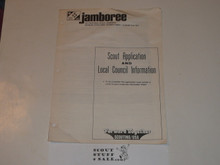1977 National Jamboree Scout Application and Local Council Information