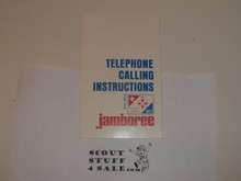 1977 National Jamboree Telephone Calling Instruction Guide