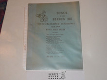1952 Region 3 Songbook for Scout Executive's Conference