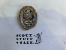 Eagle Scout Patch, Type 1, 1924-1932, Cut to round with a little material folded under