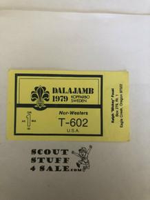 1979 Boy Scout World Jamboree Leader Business Card