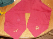 1940s Girl Scout Red Scarf