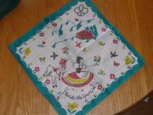 1940s Brownie Girl Scout Printed Hankerchief