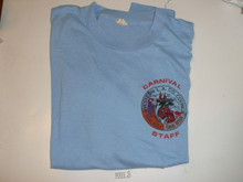 Order of the Arrow Lodge #566 Malibu 1980's Carnival STAFF Tee Shirt, Mens X-Larg