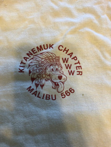 Order of the Arrow Lodge #566 Malibu 1980's Kiteanemuk Chapter Tee Shirt, Mens Large, Like new