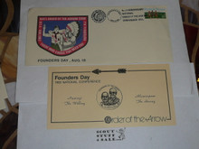 Order of the Arrow Conference (NOAC), 1983 Founders Day First Day cover with insert