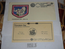 Order of the Arrow Conference (NOAC), 1983 Founders Day First Day cover with insert #2