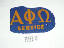 Early Alpha Phi Omega Flocked Felt Service Armband