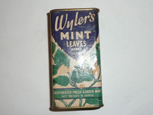 Vintage Spice Wylers Mint Leaves Spice tin (cardboard)