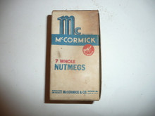 Vintage Spice McCornick Brand Nutmeg Spice tin