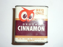 Vintage Spice Red Owl Ground Cinnamon Spice tin