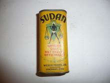 Vintage Spice Sudan Brand Ground Sage Spice tin