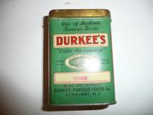 Vintage Spice Durkee's Thyme Spice tin