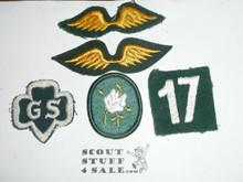 Vintage 40's-60's Girl Scout Uniform Patches