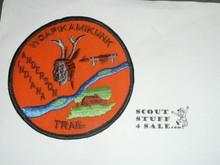 "Woapikamikunk Trail Patch, 4"" orange"