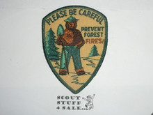 Vintage Smokey the Bear Please be Careful Travel Souvenir Patch