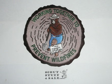 Vintage Smokey the Bear working together prevent wildfires Travel Souvenir Patch