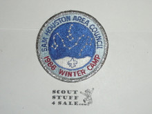 Winter Camp Patch, 1986, Sam Houston Area Council - Boy Scout