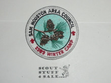 Winter Camp Patch, 1989, Sam Houston Area Council - Boy Scout